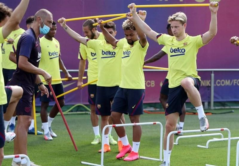 تست کرونا یک بازیکن بارسلونا مثبت شد