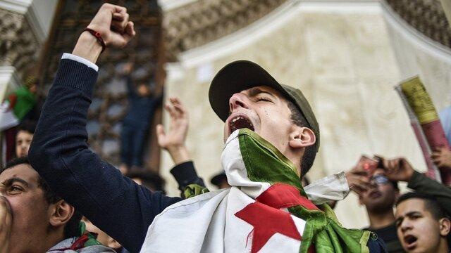 تظاهرات الجزایری ها مقابل مقر سازمان ملل در ژنو