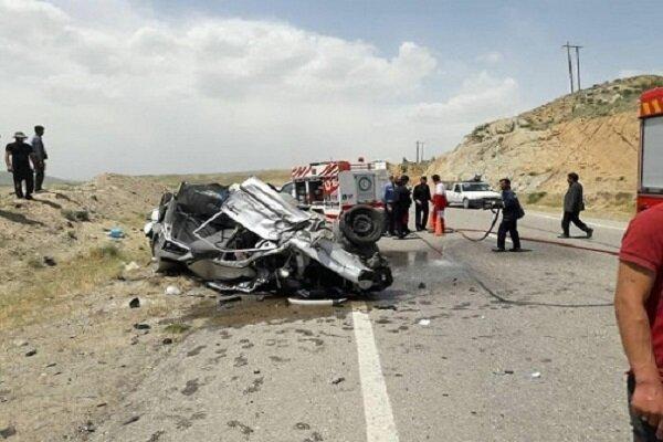 دو کشته و دو زخمی در برخورد سه خودرو در باشت